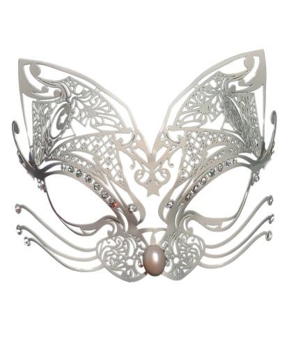 Белая маска Gatta, металл, стразы (Италия)