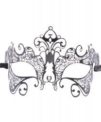 Венецианская маска Giglio черная