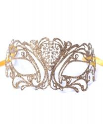 Золотая маска с блестками Maschile