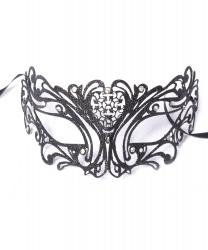 Черная маска с блестками Maschile