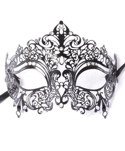 Черная маска GIGLIETTO венецианская
