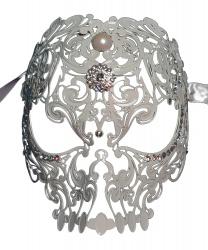 """Венецианская маска """"белый череп"""""""