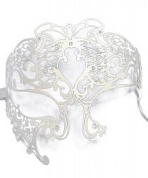 Металлическая маска Призрака Оперы белая