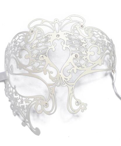 Металлическая маска Призрака Оперы белая, металл (Италия)