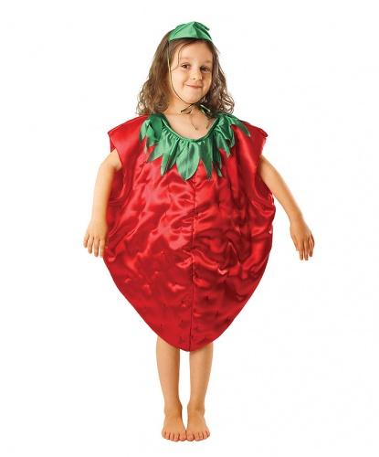 Детский костюм клубники: комбинезон, шапочка (Польша)