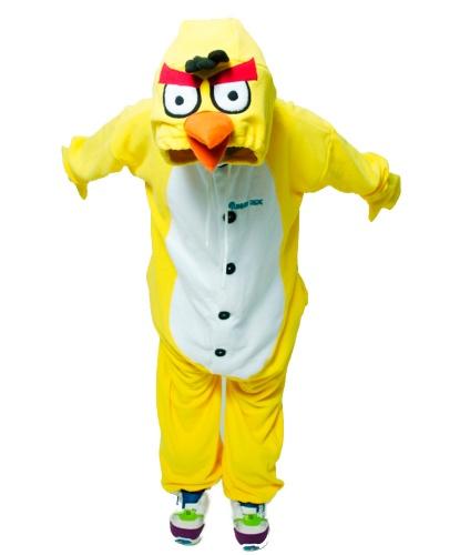 Кигуруми Angry Birds желтая: комбинезон с капюшоном (Россия)