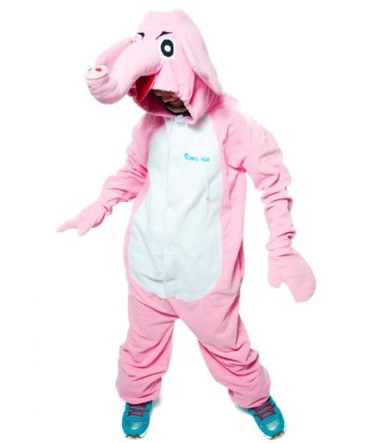 Кигуруми Розовый Слон: комбинезон с капюшоном (Россия)