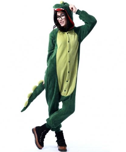 Кигуруми Динозавр: комбинезон с капюшоном (Китай)