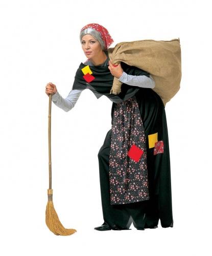 Юбка и накидка Бабы Яги: юбка, косынка, накидка (Италия)