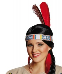 Индейская повязка с перьями