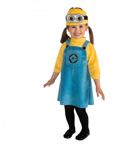 Костюм Миньона для девочки: платье, шапочка (Германия)