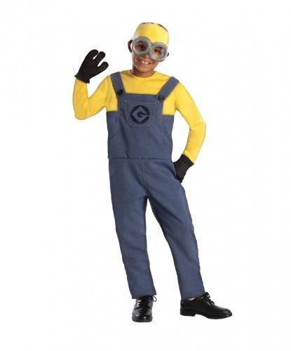 Костюм Миньона из Гадкий Я: комбинезон, перчатки, очки, шапка (Германия)