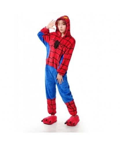 Кигуруми Человек паук: комбинезон с капюшоном (Китай)