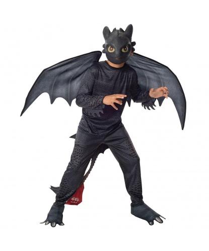 Костюм дракона Беззубика (Ночная фурия): комбинезон, маска, крылья (Германия)