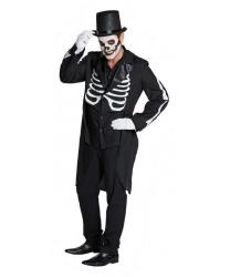 Фрак скелета на Хэллоуин
