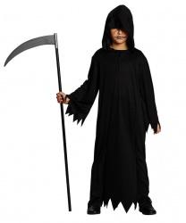 Детский черный балахон с капюшоном