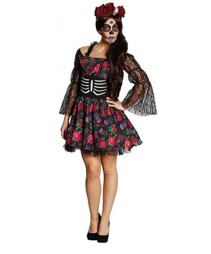 Костюм на Хэллоуин Розы и черепа: платье (Германия)