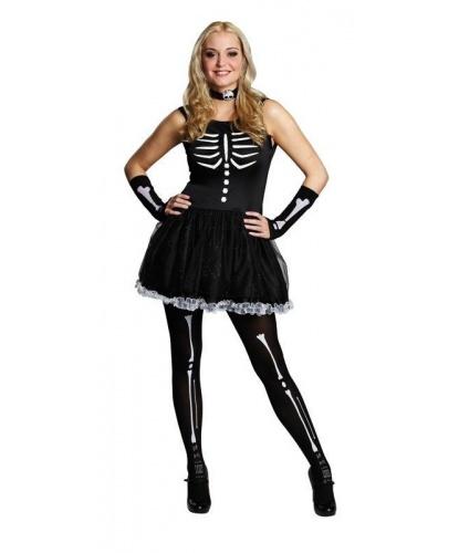Костюм скелета из Monster High: платье, украшение на шею (Германия)