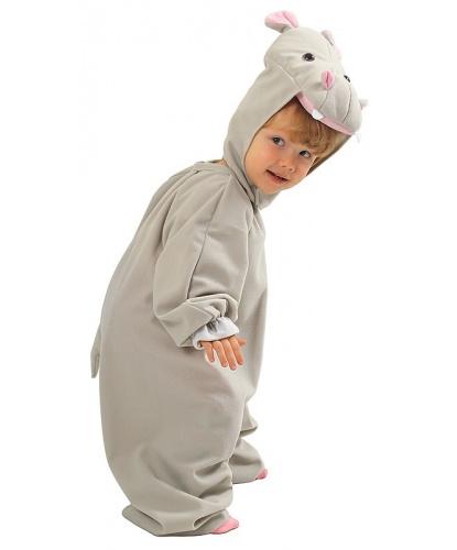 Детский костюм бегемота: комбинезон, шапка (Польша)
