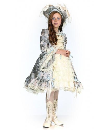 Детский карнавальный костюм Королева Мария-Антуанетта: платье, шляпа (Италия)
