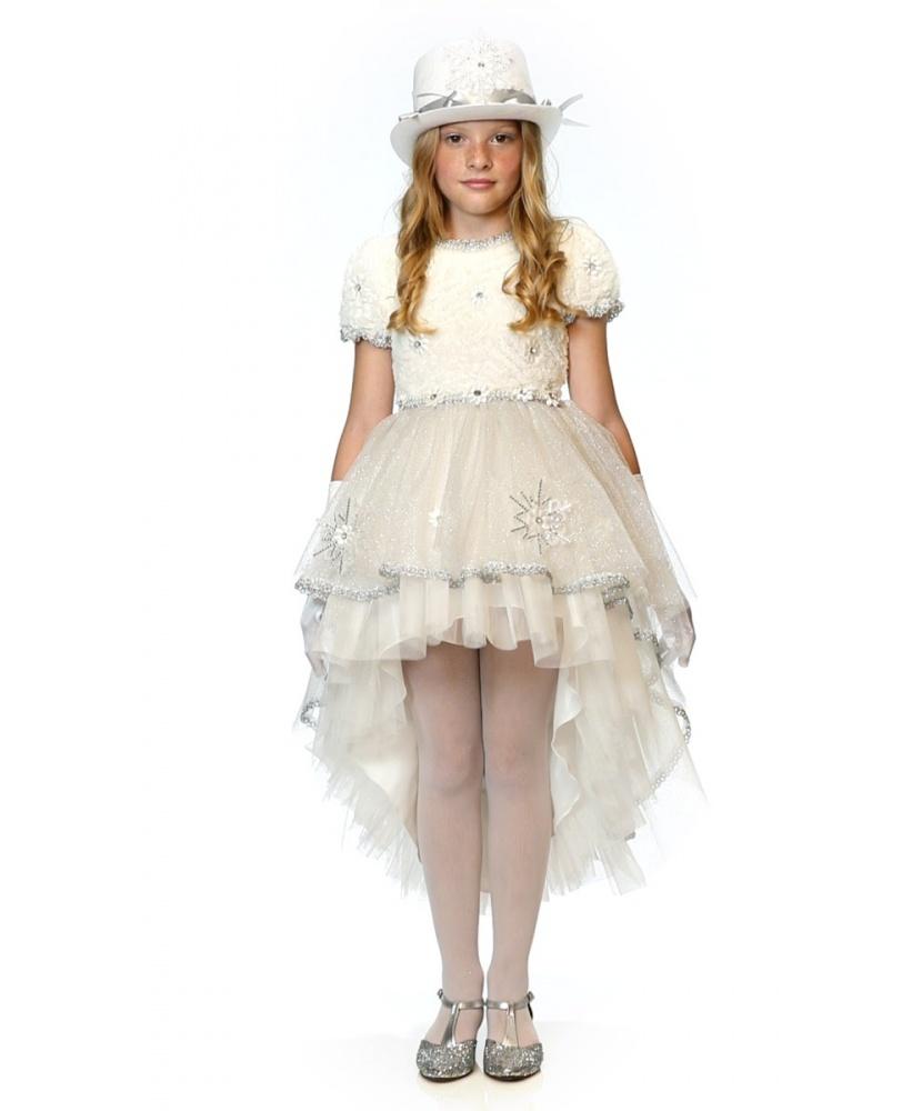 Детский карнавальный костюм снежной леди: платье, перчатки ... - photo#37
