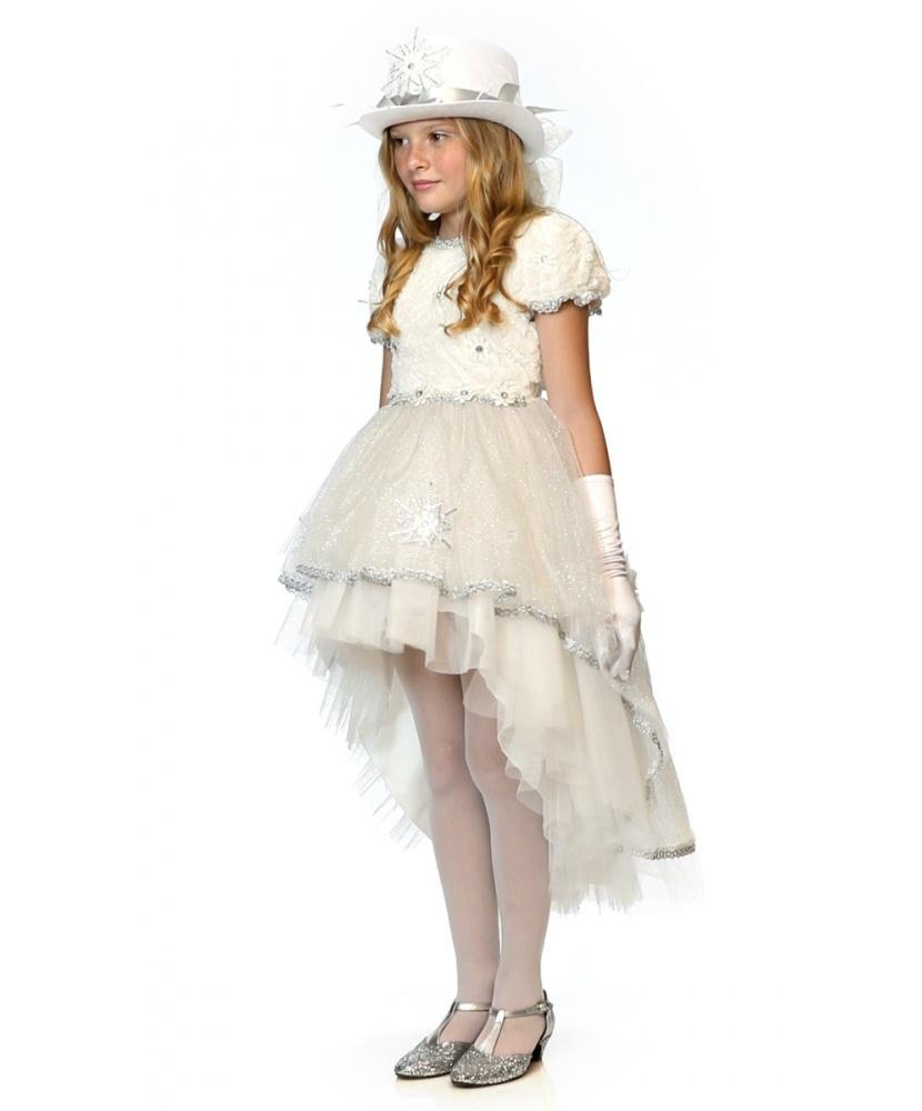 Детский карнавальный костюм снежной леди: платье, перчатки ... - photo#33