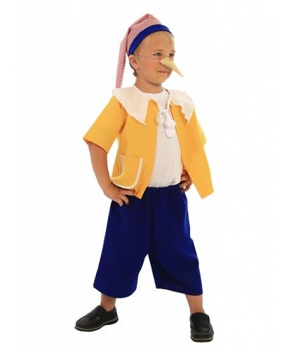 Детский костюм Золотой ключик: Рубашка с пумпонами, Шорты, Колпак (Россия)