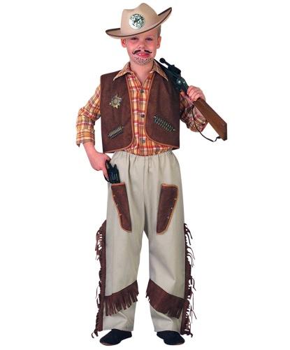 Костюм ковбоя (детский): жилетка, штаны (Германия)