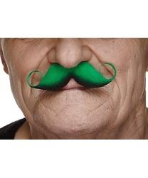 Усы зеленого цвета