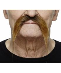 Усы коричневые изогнутые вниз