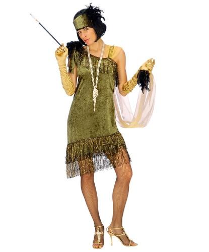 Зеленое платье Чарльстон: головной убор, платье (Германия)