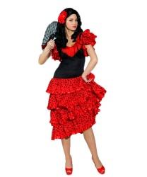 Женский испанский костюм: платье (Германия)