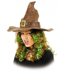 Колпак ведьмы имитированный под кожу