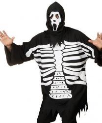 Кофта и маска скелета