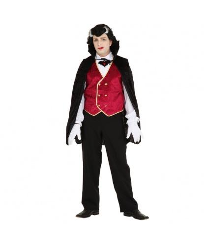 Костюм элегантного вампира: накидка, рубашка со вшитой жилеткой (Германия)