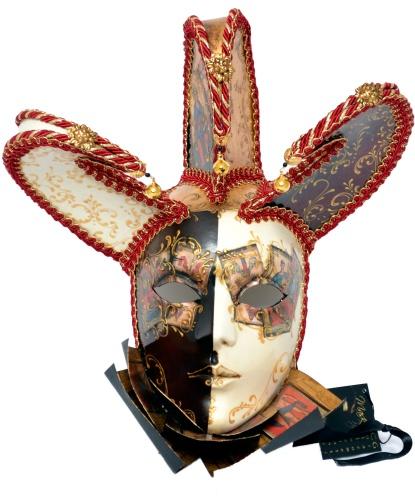 Венецианская маска Джокера, полиэстер, пластик, папье-маше (Италия)