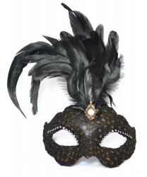 Венецианская маска Civetta Ric. Ciuffo с пером