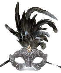 Венецианская серая маска Civetta ciuffo