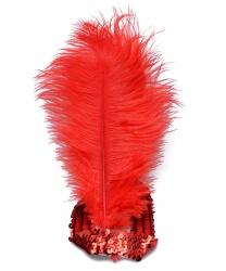 Красная повязка с перьями