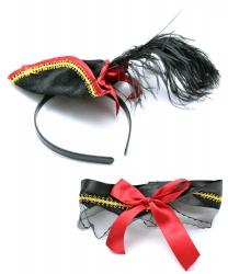 Шляпка пиратки и подвязка