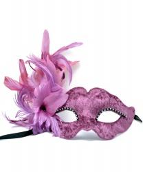 Венецианская маска в стиле Коломбина, сиреневая