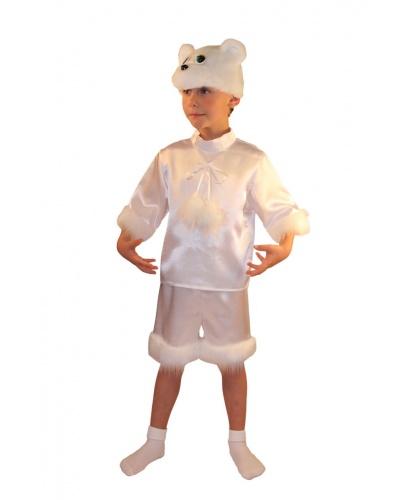 Костюм Белый Мишка: шорты, рубашка, шапочка (Россия)