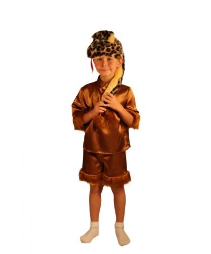 Детский костюм змеи: шорты, рубашка, шапочка (Россия)