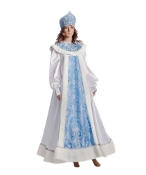 Женский костюм Зимушка-зима: платье, пелерина, кокошник (Украина)