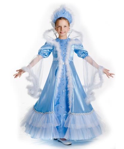 Детский костюм Снежная королева: платье с воротником, корона (Украина)