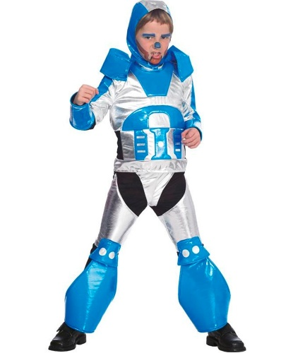 Детский костюм робота: штаны, кофта, головной убор (Германия)