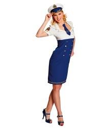 Облегающее платье морячки