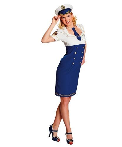 Облегающее платье морячки: платье, галстук, головной убор (Германия)