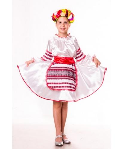 Костюм украинки Ульянки: блуза, юбка с фартуком и встроенным подъюбником,пояс, венок (Украина)