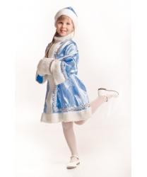 Детский костюм Снегурочки: платье, шапочка, муфта (Украина)